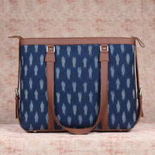 Load image into Gallery viewer, Ikat Jet Blue Women's Office Bag
