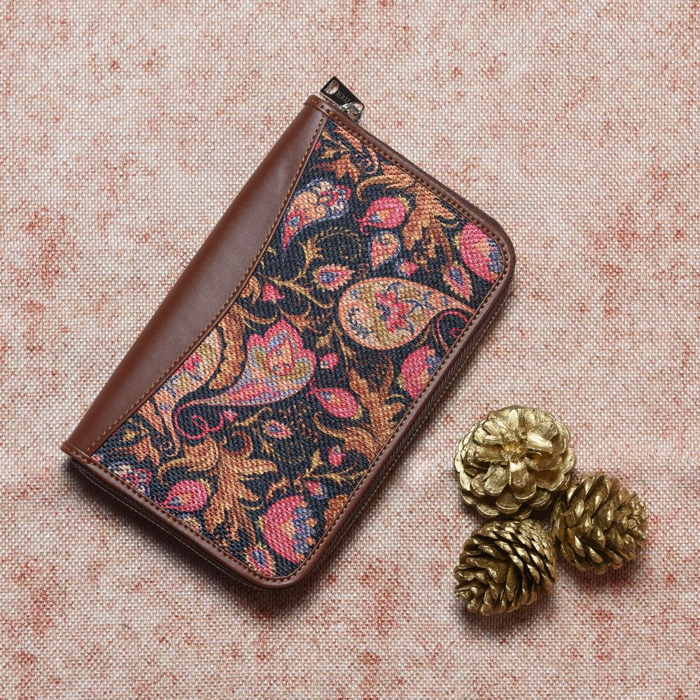 Paisley Print Chain Wallet