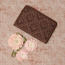 Load image into Gallery viewer, Passport Holder - Brown Floral Motif