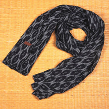 Load image into Gallery viewer, Ikat BlckMesh Cotton Scarf - Long