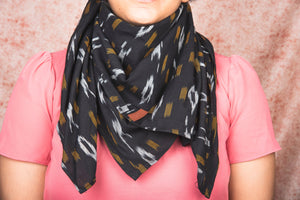 Ikat CliYel Cotton Scarf - Square