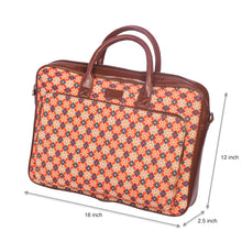 Load image into Gallery viewer, Geometric Crystal Laptop Bag with dimensions