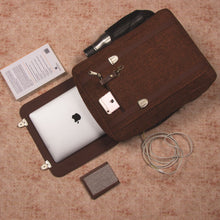 Load image into Gallery viewer, Brown Metal Office Backpack