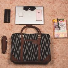 Load image into Gallery viewer, Messenger - Ikat Print Laptop Bag