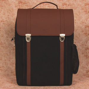 Jet Black Office Backpack