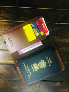 Passport Holder - Blue Multi Strip