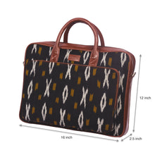 Load image into Gallery viewer, Ikat CliYel Laptop Bag with dimensions