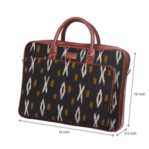 Ikat CliYel Laptop Bag with dimensions
