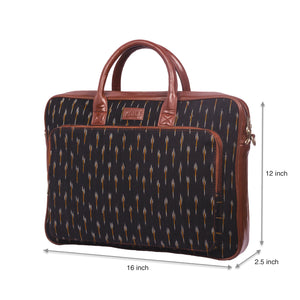 Ikat GreRe Laptop Bag with dimensions