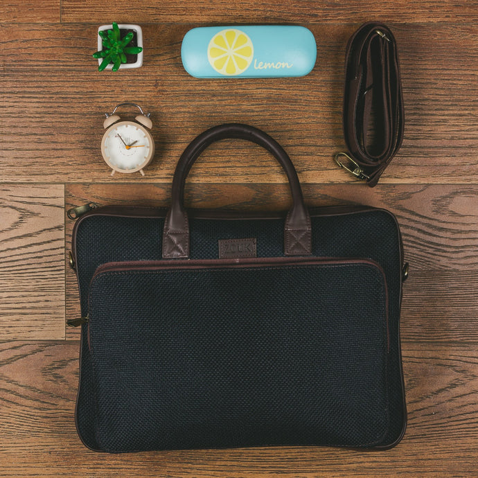 Jet Black Laptop Bag