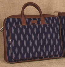 Load image into Gallery viewer, Ikat Jet Blue Laptop Bag