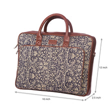 Load image into Gallery viewer, Lattice Lace Laptop Bag with dimensions