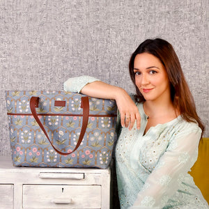 Jaipur Fresco Blue Tote Bag