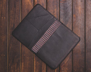 Zouk Black Passport Holder - Checkered Purple