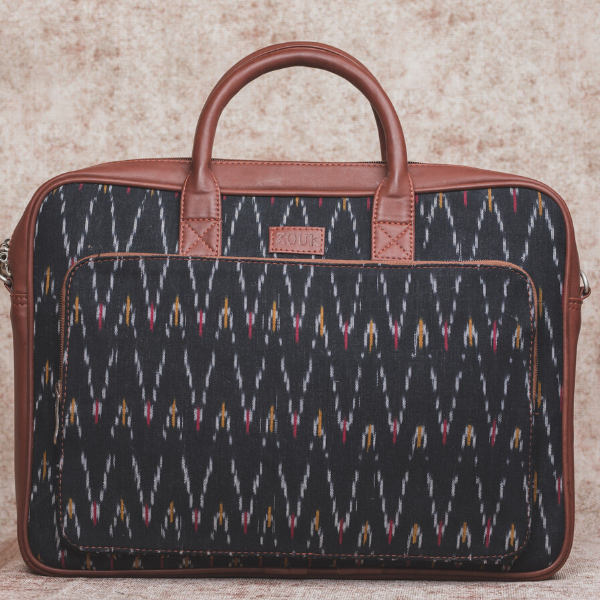 Ikat Bag for Laptop - African Wave