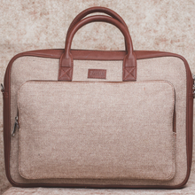 Load image into Gallery viewer, Beige Laptop Bag