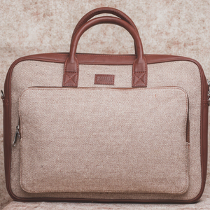 Beige Laptop Bag