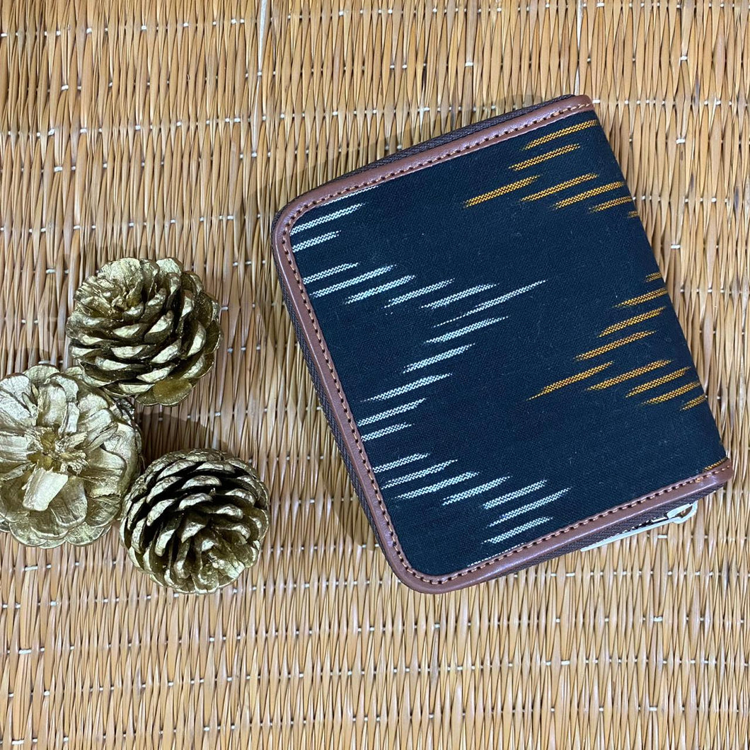 Ikat Brown Wave Women's Mini Wallet