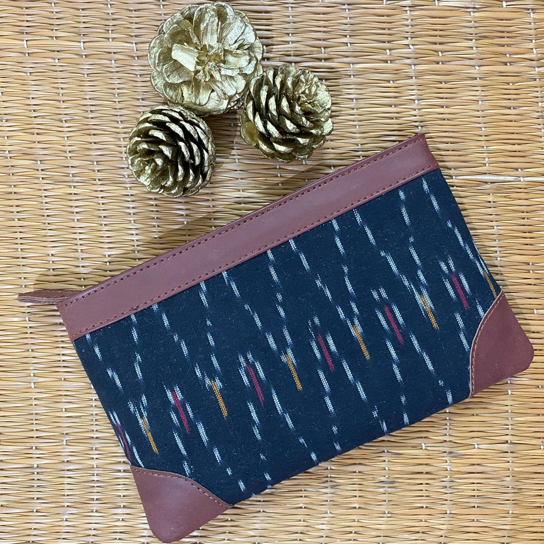 Ikat African Wave Multipurpose Pouch