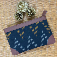 Load image into Gallery viewer, Ikat Brown Wave Multipurpose Pouch