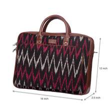 Load image into Gallery viewer, Ikat MaroWave Laptop Bag with dimensions