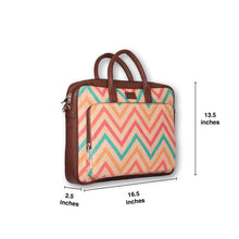 Load image into Gallery viewer, WavBeach Laptop Bag with dimensions
