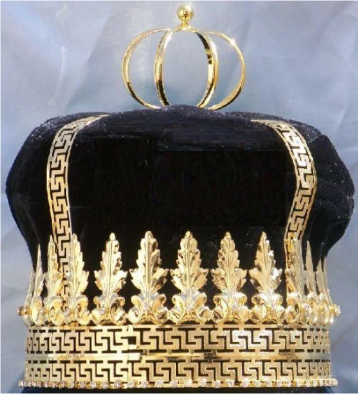 Lourdes Crown - Silver or Gold with Black, Blue, Green, or Burgundy Velvet