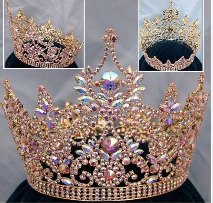 Continent Aurora Borealis Crown - Gold or Silver