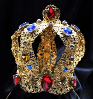 Royal Swarovski Gold Crown