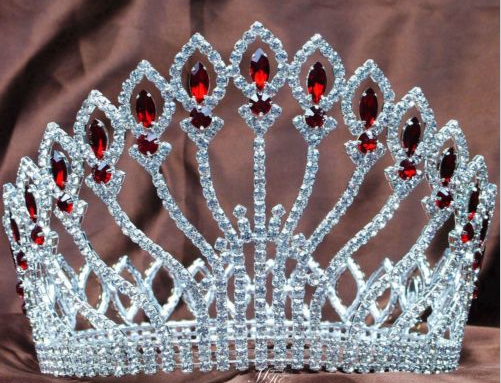 Angers Contour Crown - All Clear, Red, Green or Blue Accents