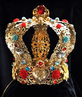 PALMIRA - Red & Turquoise Antique Crown