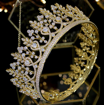 The Dignified CZ Tiara - Silver or Gld