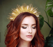 Golden Halo Sunburst Crown