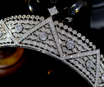 The Royal CZ Tiara - Silver