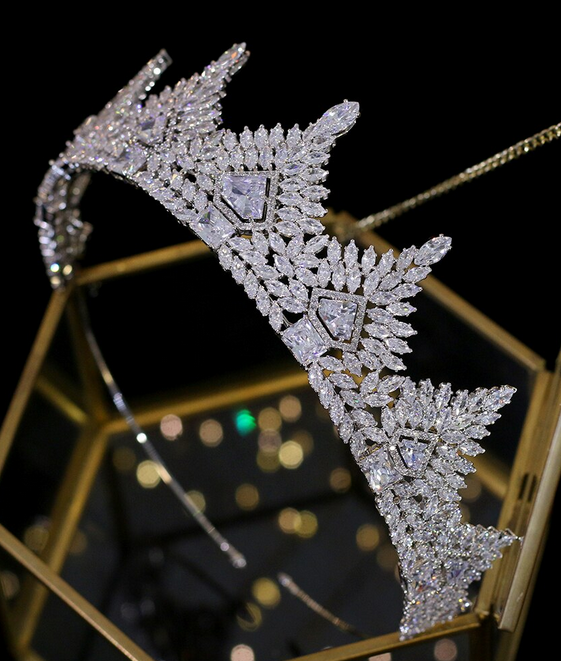 The Memorable CZ Tiara - Silver or Gold