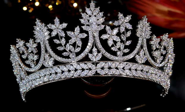 The Elevated CZ Tiara - Silver or Rose Gold