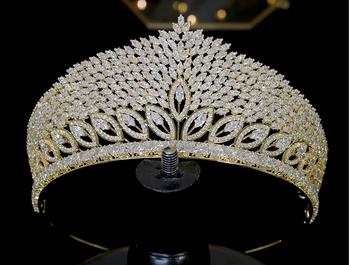 The August CZ Tiara - Silver or Gold