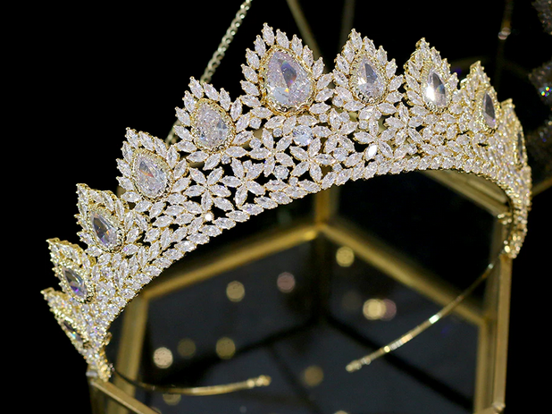 The Reputable CZ Tiara - Silver or Gold