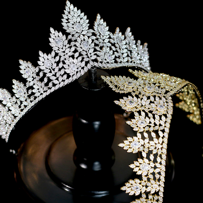 The Ruling CZ Tiara - Silver or Gold