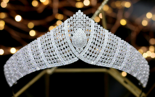 The Final CZ Tiara - Silver or Gold