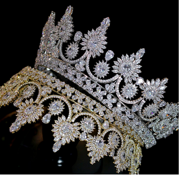 The Elevated CZ Tiara - Gold