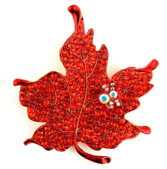 Red Crystal Maple Leaf Pin 2020