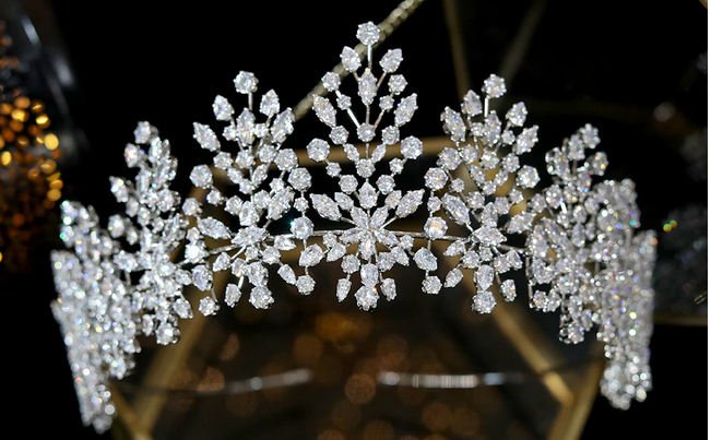The Carnation CZ Tiara