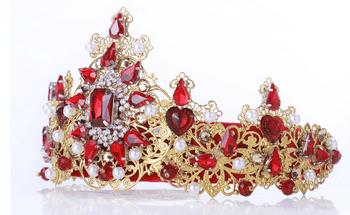 Ambre Red Bridal Tiara