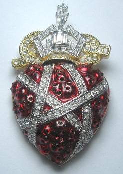 Ambush Crown and Heart Pin