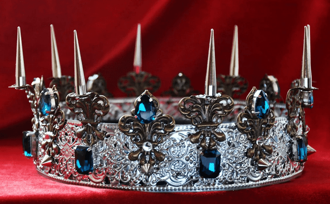 ASHTON Spiked Silver Male Crown