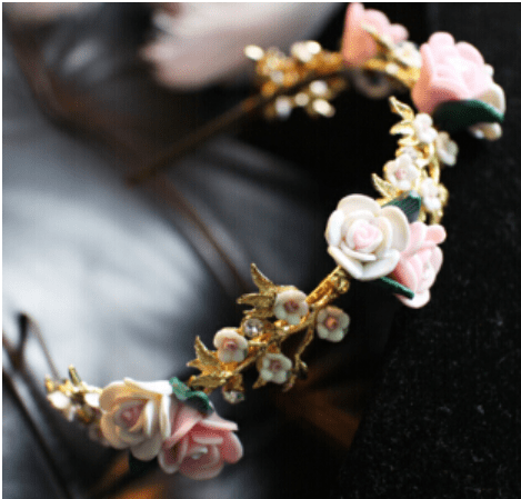 Baroque Floral Headband and Earring Set