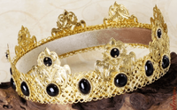 BLACK AGATE Gold Male Crown