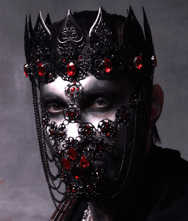 Black Gothic Mask Crown