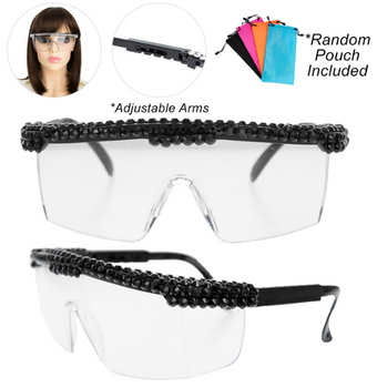 Black Designer Safety Glasses